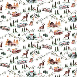Mountain Lodge Wrapping Sheet, 20x29