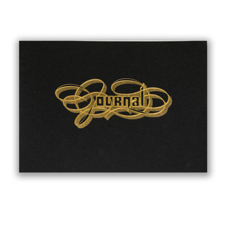 Gold Foil Calligraphy Practice Journal, Black
