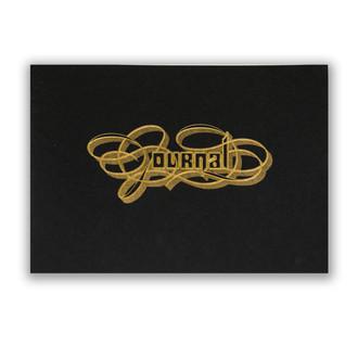 Gold Foil Calligraphy Practice Journal, Black