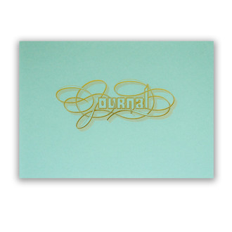 Gold Foil Calligraphy Practice Journal, Aqua
