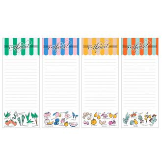 Seasonal Market List Pad Set of 4