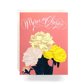 Merci Mon Cherie Greeting Card