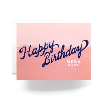 Mega Babe Birthday Greeting Card