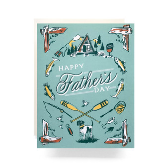 Outdoorsman Father's Day Greeting Card