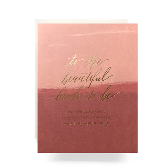 Blush Bride to Be Greeting Card