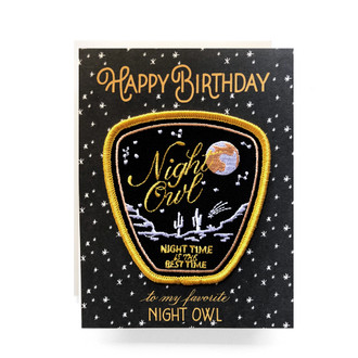Patch Greeting Card | Night Owl Birthday