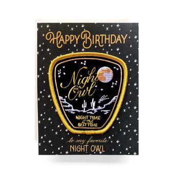 Patch Greeting Card | Night Owl Birthday