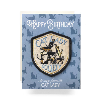 Patch Greeting Card | Cat Lady Birthday