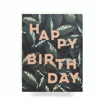 Emerald Forest Birthday Greeting Card