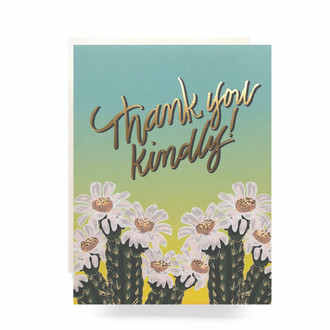Cactus Ombre Thanks Greeting Card