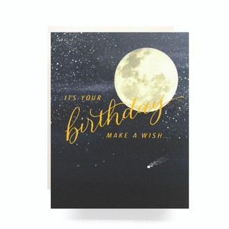 Shooting Star Birthday Greeting Card