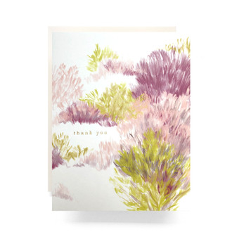 Heathered Thank You Greeting Card