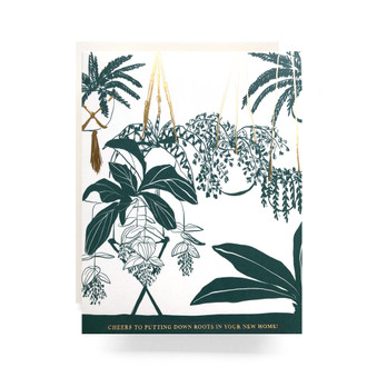 Houseplant Housewarming Greeting Card
