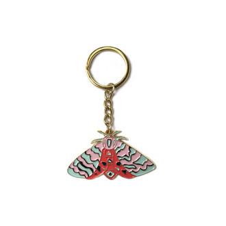 Moth Enamel Keychain