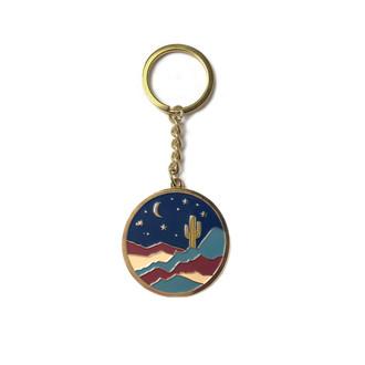 Desert Moon Enamel Keychain