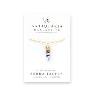 Gemstone Pendant, Zebra Jasper