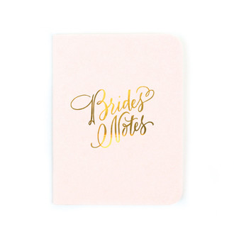 """Bride's Notes"" Gold Foil Notebook"