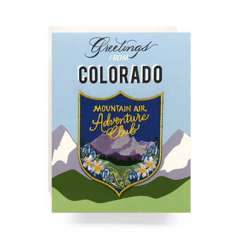 Patch Greeting Card | Colorado