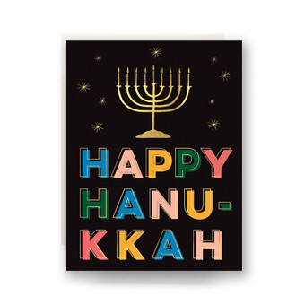 Lights Happy Hanukkah Greeting Card