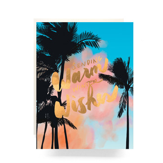 Palms Warm Wishes Greeting Card