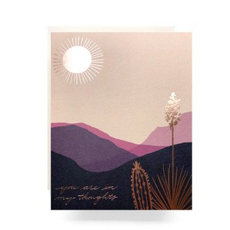 Desert you are in my Thoughts Greeting Card