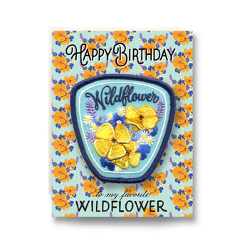 Patch Greeting Card | Wildflower Birthday