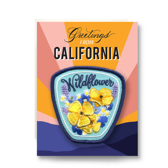 Patch Greeting Card | California