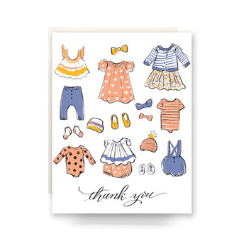 Baby Clothes Thank You Greeting Card