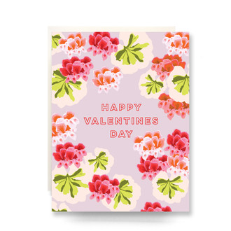 Geranium Valentine Greeting Card