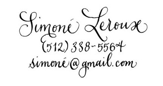 """Handwritten"" Calligraphy Calling Card Stamp"