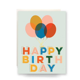 Balloons Birthday Greeting Card