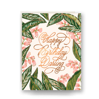 Ginger Blossom Birthday Greeting Card