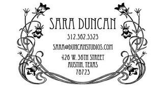 """Art Nouveau"" Calling Card Stamp"