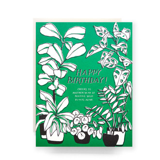 Green Thumb Birthday Greeting Card