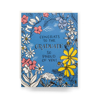 Floral Toile Graduate Greeting Card