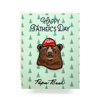 Patch Greeting Card | Papa Bear Father's Day