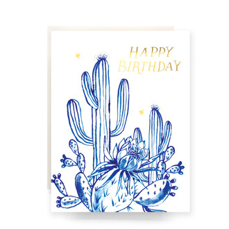 Cactus Garden Birthday Greeting Card