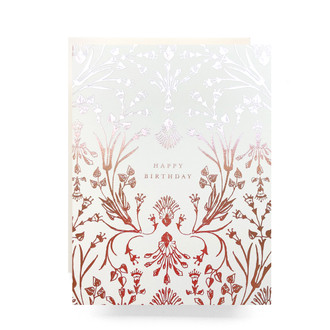 Rosegold Birthday Greeting Card