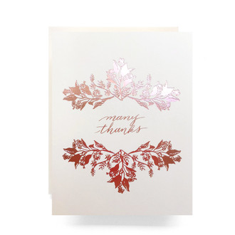 Rosegold Many Thanks Greeting Card