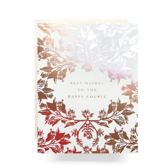 Rosegold Happy Couple Greeting Card