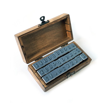 Alphabet Stamps, A-Z Wooden Box Stamp Set