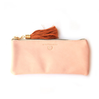 "Pencil Pouch, Blush ""Bits and Baubles"""