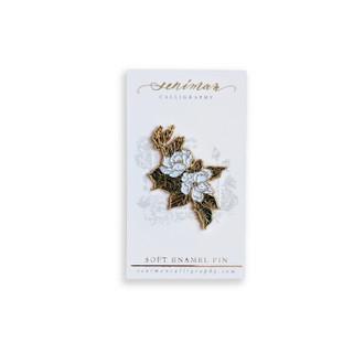 Southern Magnolia Gold Soft Enamel Pin