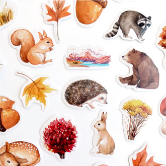 Fall Forest Sticker Set