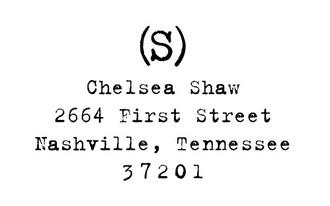 """""""Old Typewriter"""" Return Address Stamp"""
