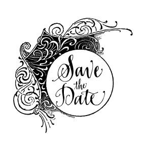 "Save the Date ""Flourish"" Stamp"