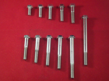 18-8, 3/8-16 Hex Head Bolts