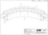 "Sanitary Conveyor, 90deg Curve,  4 1/2"" Tab Chain"