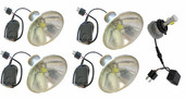 MP-5-LED FOUR 5 3/4 inch LED H4 Lamps and Housing