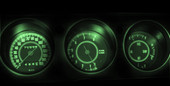 1971 Rally Challenger LED Gauge Light Kit - GREEN